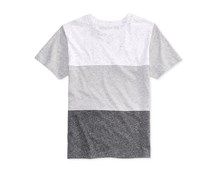 Ring of Fire Colorblock Stripe T-Shirt, Grey Combo