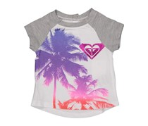 Roxy Toddler Girl's Mirage Graphic Print Tee, Sea Salt
