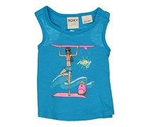 Roxy Toddler Girl's Graphic Surf Top, Vivid Blue