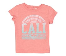 Roxy Toddler Girl's Cali Graphic Top, Peach