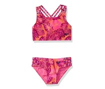 Roxy Baby Girls' 2pc Valencia Beach Tankini Set, Coral Reef