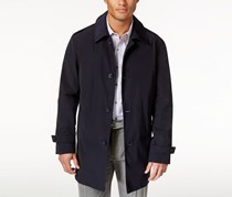 Kenneth Cole New York Mens Button-Front Raincoat, Navy