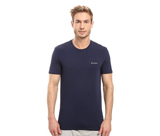 Men's Cotton Stretch Crew T-Shirt 2-Pack, Dress Blue