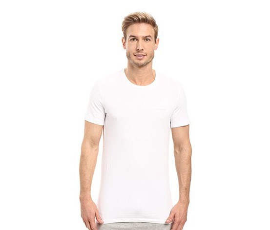 Men's Cotton Stretch Crew T-Shirt 2-Pack, White