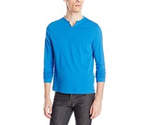 Kenneth Cole REACTION Men's Long Sleeve Solid Henley Shirt