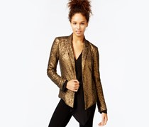 Rachel Roy Jacket Long Sleeve Sequin Blazer,Copper