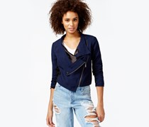 Rachel Roy Shauna Cropped Moto Jacket,Night Shade