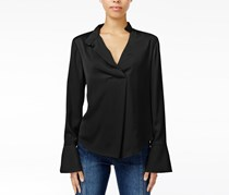 Women Bell-Sleeve Blouse, Black