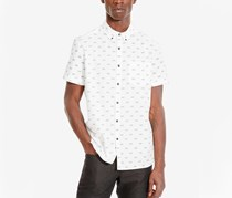 Kenneth Cole Reaction Mens Bicycle Print,White Combo