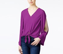 Rachel Roy Tie-Front Cold-Shoulder Blouse, Orchid