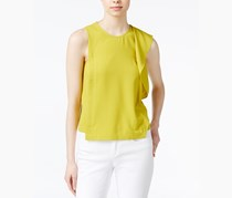 Rachel Roy Women Ruffled Blouse, Chartreuse