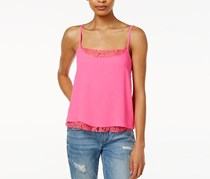 Rachel Roy Lace-Trim Layered Camisole, Neon Pink