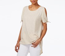 Rachel Roy High-Low Off-The-Shoulder Top, Natural