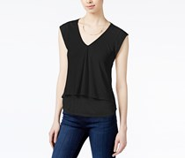 Rachel Roy Layered-Look Top, Black