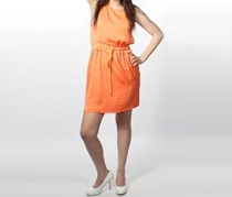 Rachel Roy Solid Orange Dress, Orange
