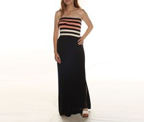 Rachel Roy Strapless Maxi Dress, Guava stripe combo
