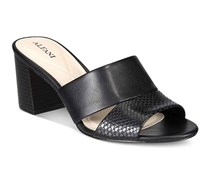 Alfani Womens Rochele Slide-On Block Heel Sandals, Black