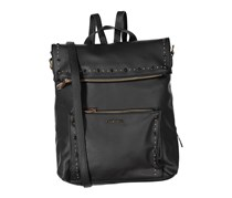 Rampage Womens Studded Convertible Backpack, Black