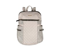 Rampage Womens Mixed Media Quilted Backpack, Stucco