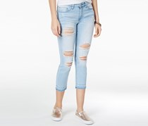 Indigo Rein Juniors Ripped Skinny Jeans, Light Blue