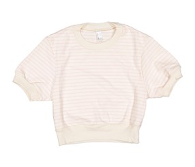American Apparel Womens Cropped T-shirt, Ivory/Pink