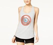 Marvel Juniors' Embellished Superhero Graphic Tank Top, Grey Heather