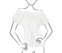 No Comment Off Shoulder With Ruffle Top, White