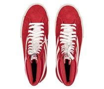Superga Unisex 2230 Suede Sneakers, Purple Red/White