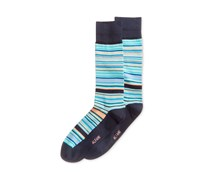 Alfani Mens Variegated Stripe Socks, Aqua