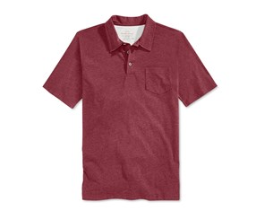 Weatherproof Men's Heather Pocket Polo, Biking Red