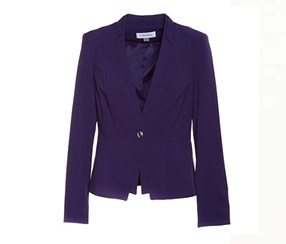 Calvin Klein Women's One-Button Blazer, Violet