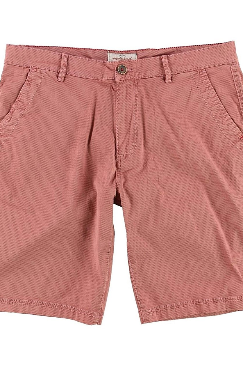 Garment Co Weather Wash Vintage Cotton Shorts, Spice