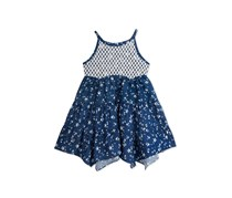 Rare Editions Little Girls Handkerchief Dress, Chambray