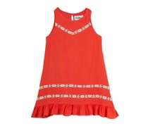 Rare Editions Baby Girls Gauze Trapeze Dress, Orange