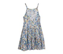 Rare Editions Floral-Print Sundress, Blue Floral
