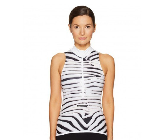 by Stella McCartney Cycling Adizero Tank Top, White/Black/New Rose