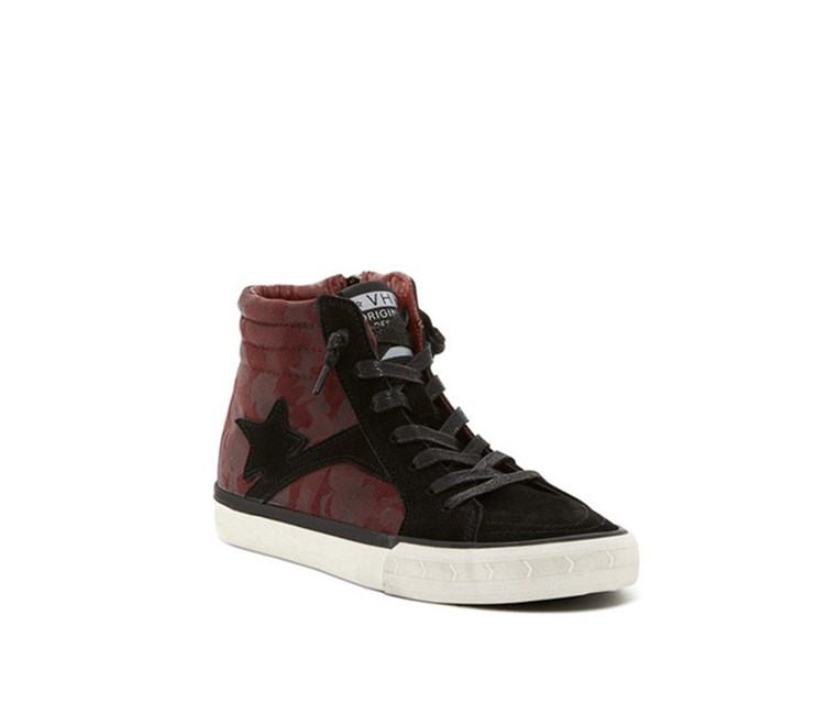 Womens Salinas High-Top Sneaker, Maroon/Black