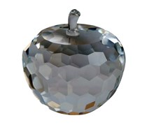 Simon Designs Crystal Apple Paperweight, Transparent
