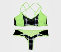Sole East Sairee Top/Bottom Swim Set,Neon Green