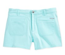 Sean John Girls Twill Shorts,Aqua Mist