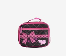 Skechers Diamond Quilt w/ Twinkle Lights Lunch Box, Black/Pink