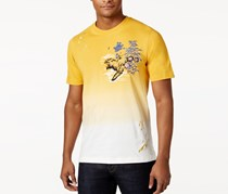Sean John Men's Graphic-Print Cotton T-Shirt, Golden Yellow