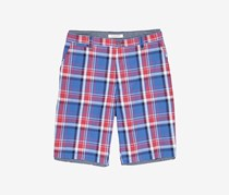 Flag & Anthem Men Plaid Shorts, Red/Blue