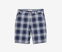 Flag & Anthem Men's Grounded Plaid Short, Navy/White