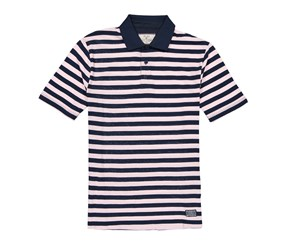 Flag & Anthem Madison Short Sleeve Polo, Dark Blue/Pink