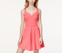 In Awe Of You Womens Ponte-knit Sweetheart,Fruit Punch