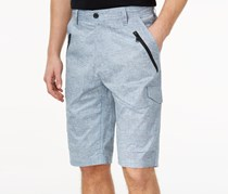 Sean John Mens Flight Shorts, Chambray Blue