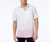 Sean John Men's Dip-Dye Pinstripe Shirt, Sj Cream