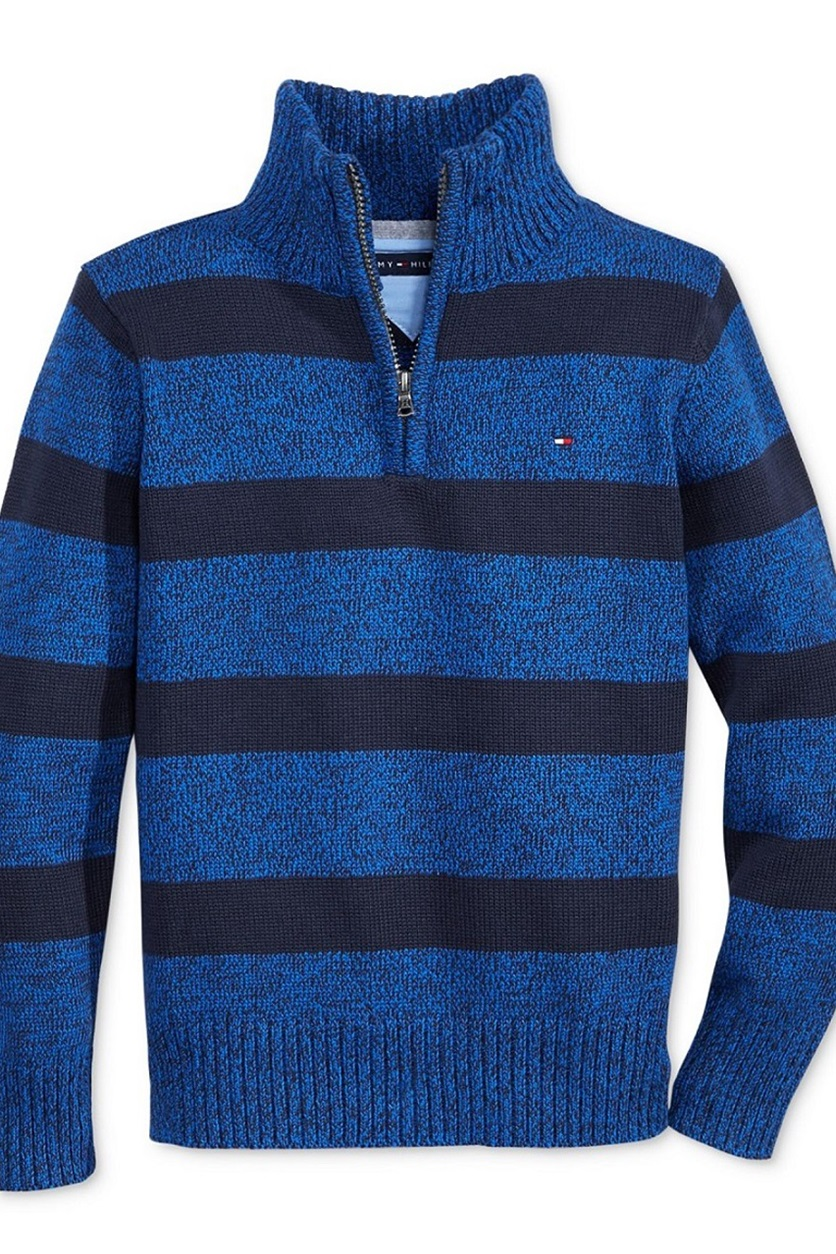 2ca8775f Shop Tommy Hilfiger Tommy Hilfiger George Half-Zip Sweater, Blue ...