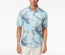 Tommy Bahama Men's Beyond Frond Silk Shirt, Graceful Sea